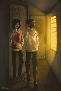 Jeff The Killer and Normal Jeff