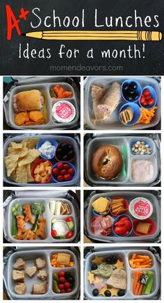A month of kid-approved school lunches – easy & creative ideas! A month of kid-approved school lunches – easy & creative ideas! Kids Lunch For School, Lunch To Go, Healthy School Lunches, Lunch Time, Healthy Lunches For Kids, Cold Lunch Ideas For Kids, Creative School Lunches, Work Lunches, School Treats