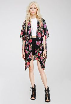 Floral Chiffon Cardigan | FOREVER 21 - 2049258187