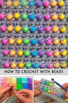 How to Crochet with Beads Free Pattern and YouTube Tutorial by Donna Wolfe from Naztazia