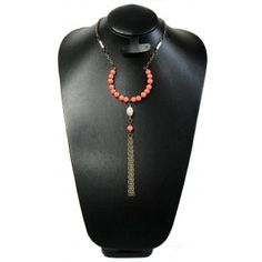 Collar de Moda con Perla y Turquesa