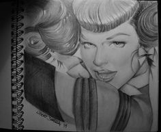 Betty Page - pencil on paper