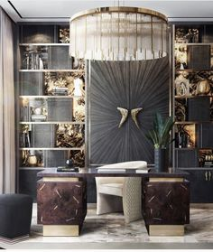 Contemporary Home Furniture, Luxury Furniture, Furniture Design, Contemporary Chairs, Modern Contemporary, Interior Exterior, Best Interior, Luxury Office, Ceo Office