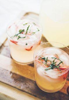 Where the Sidewalk Begins: {Strawberry Vodka Lemonade}