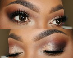 Wedding Makeup Looks Black Women Eyebrows 24 Trendy Ideas Wedding Makeup For Brown Eyes, Wedding Makeup Looks, Bridal Makeup, Eye Makeup Tips, Beauty Makeup, Makeup Products, Makeup Ideas, Beauty Tips, Contouring Makeup