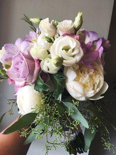 Lavender & White Bridal Bouquet :: The Vines Flower & Garden Shop
