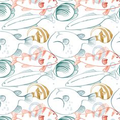 'Into the Wild' fish surface design by Ashley le Quere.