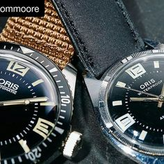 #Repost @atommoore with @repostapp The Diver 65 and the original diver it took its inspiration from. I love when @redbarcrew brand events bring out the great vintage watches from their history it's my favorite part. #AtomMooreMacro #watchportraits #RedBarcrew #redbargroup #oris #oriswatch #diver65