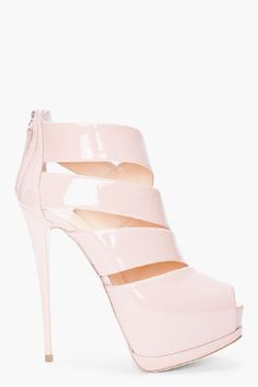 These glossy nude Zanotti #shoeoftheday conjures up one word...fierce!