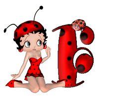 Alfabeto de Betty Boop mariquita. | Oh my Alfabetos!