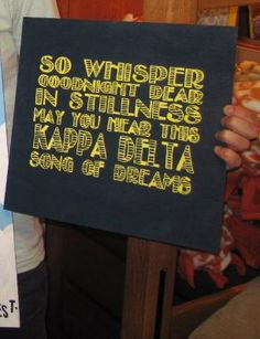 Kappa Delta lullaby canvas... maybe a pillowcase for the grandlittle?