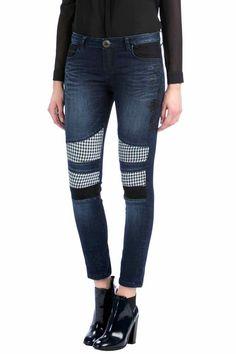 Desigual Jeans Majo, Houndstooth, Canada