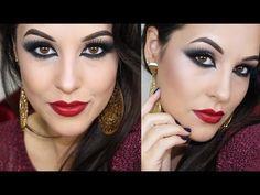 Maquiagem com a Palette Divina da Eudora - Olho TUDO e Boca TUDO - YouTube
