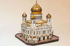 #3d puzzle #assembly #basilica #bishop #cathedral #cathedral of christ the saviour #church #clergy #congregation #diocese #edifice #hobby #indoor activity #monastery #moscow #pastime #russian orthodox church #scal