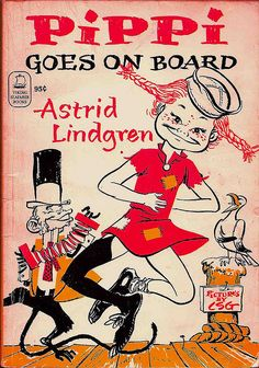 Pippi va a bordo di Astrid Lindgren, illustrato da Louis S. Kids Book Series, Pippi Longstocking, Vintage Children's Books, Vintage Library, Vintage Posters, Little Free Libraries, Little Golden Books, Children's Book Illustration, Love Book