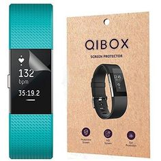 Fitbit Charge 2 Screen Protector (6-Pack) - QIBOX Premium Clear Shatterproof Screen Protector for Fitbit Charge 2 Wristband Anti-Fingerprint & Anti-Scratch Film Cover