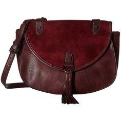 Madden Girl Mgtassel Crossbody (Burgundy) Cross Body Handbags