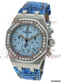"Audemars Piguet ""Jeans"" Royal Oak Offshore Stainless Steel Diamond Bezel"