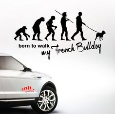 Auto Aufkleber EVOLUTION FRENCH BULLDOG Franz Bulldogge Hund Hunde SIVIWONDER | eBay