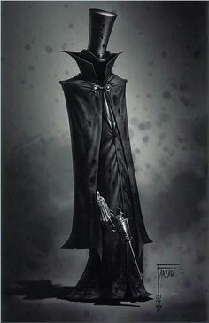 A steampunk grim reaper - Hard Tutorial and Ideas Dark Fantasy Art, Dark Art, Monster Art, Monster Concept Art, Arte Horror, Horror Art, Gothic Art, Character Design Inspiration, Creature Design