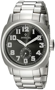 Men's Wrist Watches - Invicta Mens 15080 Vintage Analog Display Japanese Quartz Silver Watch *** You can find out more details at the link of the image. (This is an Amazon affiliate link)