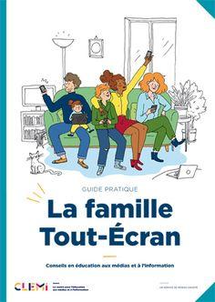 Couverture du guide La famille Tout-Écran Parents, Family Guy, Comic Books, Education, Comics, Fictional Characters, Information, Simple, Foreign Language