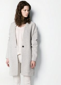 Abrigo minimal cocoon - Vestidos - Mujer - MANGO 70€