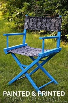 Painted and Printed Directors Chair Tutorial by doris