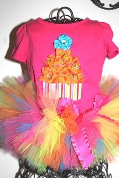 1st Birthday tutu - use royal and terquiose and black for cookie monster theme