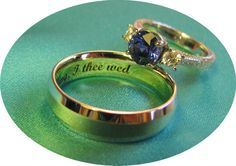 with this ring...I thee wed engraving--cute idea