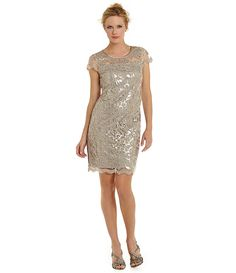b6c8450b2c78 Donna Ricco Sequined Lace Shift Dress