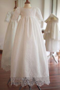318fa3ba65a6e Robe cérémonie bébé dentelle tulle Aurelia - Fil de Légende