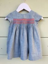12 months dress Bonpoint fall winter smocked embroidered Retails $285