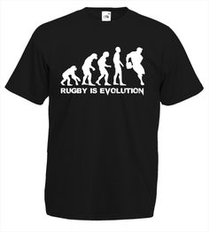 Limited Edition Rugby Evolution Tee | Design4T.com Customise T Shirt, Tshirts Online, Rugby, Evolution, Tees, Mens Tops, Fashion, Moda, T Shirts