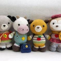 Back to School Friends amigurumi crochet pattern by Little Muggles