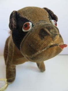 Old Vintage? Antique? Small Stuffed Velvet Cloth Soft Toy Dog English Bulldog?   eBay
