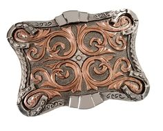 Stetson Two-Tone Scroll Design Buckle - Sheplers