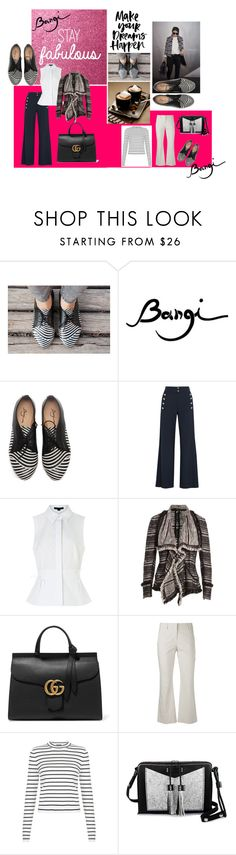 """""""Bangi: Leather Black and White Shoes!!!"""" by tammydevoll ❤ liked on Polyvore featuring Chloé, Alexander Wang, Donna Karan, Gucci, Brunello Cucinelli, Carianne Moore, women's clothing, women, female and woman"""