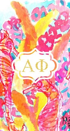 Cute alpha phi iPhone 5 background!