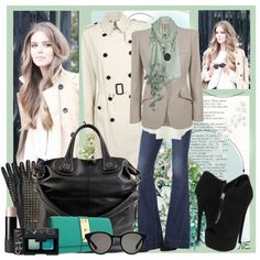 """Trench Coat and Jeans"" by nancy-ellyn on Polyvore"