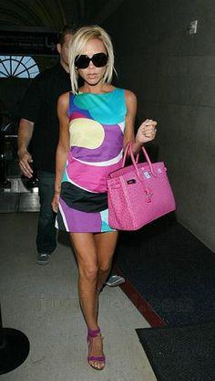 Dress - Emilio Pucci ''piume'' Shift Dress Shoes - Jimmy Choo ''elika'' Wooden Sandals Sunglasses - Dvb '6' Sunglasses In Black Purse - Hermes Ostrich Birkin bag