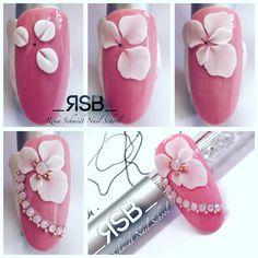 3d Acrylic Nails, 3d Nails, Gel Nail Art, Nail Art Diy, Pastel Nails, Bling Nails, Stiletto Nails, Feet Nail Design, New Nail Art Design