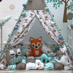 Teepee Tent, Tents, Sewing For Kids, Baby Sewing, Sewing Pillows Decorative, Woodland Decor, Ideas Para, Playground, Baby Room