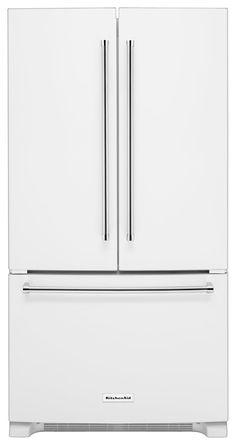 KitchenAid   20.0 Cu. Ft. Counter Depth French Door Refrigerator   White