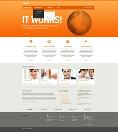 Public relations responsive website template pinterest business public relations responsive website template pinterest business website templates business website and template accmission Gallery