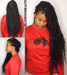 Long Goddess Faux Locs Luxury Goddess Faux Locs Done by London S Beautii In Bowie Maryland Faux Locs Hairstyles, My Hairstyle, Protective Hairstyles, Protective Styles, Black Girls Hairstyles, Summer Hairstyles, Pretty Hairstyles, Prom Hairstyles, Black Girl Braids