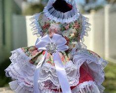 Doggie Dress in Peach Floral