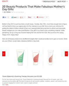 28a6e187aac4d Thyme Maternity Soothing Therapy Skincare line featured on Babble. April  2013 Lighten Skin