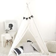 Natural Canvas Teepee Play Tent