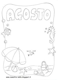 Ecco i miei disegni sui mesi dell'an n o ..  Potete utilizzare queste schede per realizzare un libretto...come copertine per quaderni ... o... Borders Bullet Journal, Birthday Coloring Pages, Notebook Art, Wedding Bag, Borders And Frames, Play To Learn, School Organization, Months In A Year, Cover Pages